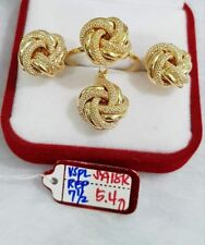 Gold Authentic 18k gold sets ring size 7.5