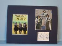 """""""The Long Riders"""" signed by  David Carradine as Cole Younger"""