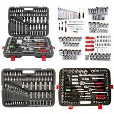 "215 pcs Professional Socket Set 1/2"" 3/8""1/4"" Ratchet Spanner Case Tool Kit"