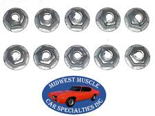 Mopar Chrysler Dodge Plymouth Trim Moulding Molding Clip 8-32 Stud Nuts 10pcs D