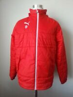 PUMA WarmCell Padded Men Size M Jacket Red Insulated Collar Hood Full Zip