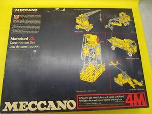 MECCANO BINNS RD ORIGINAL No 4M SET COMPLETE.  .....  (JL20)