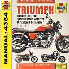 Triumph Bonneville T100 America Speedmaster 2001-2015 Haynes Manual 4364 NEW
