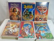 Childrens Family VHS Tapes Lot of 6 Clamshell Sinbad Jonah Land Before Time More