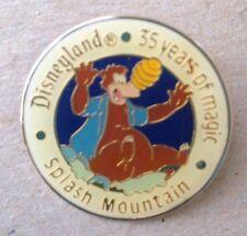 Disney Pin 1365 1990 Disneyland Celebrating 35 Years Splash Mtn w/ Brer Bear