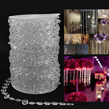 10mm Crystal Beads Garland Home Curtain String Wedding Hanging Table Party Decor