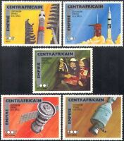 Empire Centrafricain 1977 SPACE/Apollo-Soyuz Link-up/Rockets 5v set (n14485)