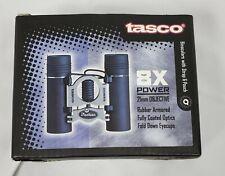 Binoculars 8X Power 21mm Tasco Objective Lens Black Rubber Armored Pouch New