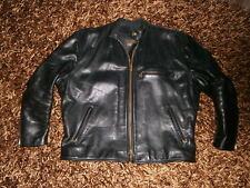 VANSON Leather Veste en Cuir Cafe Racer moto noir Taille US 50 XXL EU 58