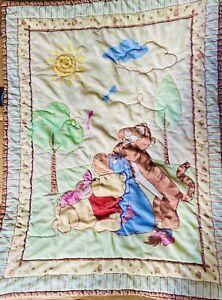 Disney Winnie the Pooh & Friends Fuzzy Baby Blanket Bees Piglet Tigger 29x40