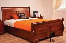 Sweet Dreams Jackdaw Wild Cherry Sleigh Bed Frame 150cm Kingsize 5FT Solid Wood