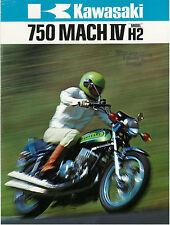 KAWASAKI Brochure H2 H2B 1974 Mach IV Sales Catalog ORIGINAL OEM