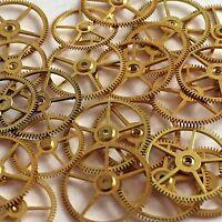 25 Flat Larger Watch Wheels Steampunk gears parts vtg movements art pocket lot