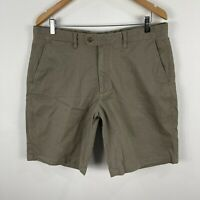 Gazman Mens Chino Shorts 36 Khaki Brown Stretch Pockets