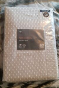 BRAND NEW  Marks & Spencers Double Duvet Cover & 2 Pillow Cases Pure Cotton