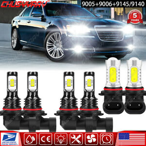 For Chrysler 300 2005 2006 2007 2008 2009 Kit faros LED alto bajo+luz antiniebla