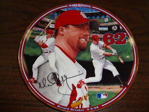 Mark Mcgwire Plate---Home Run Hero---#62---Bradford Exchange---1999---COA