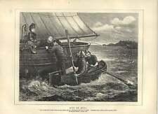 1871 Wilkie Collins Miss o la señora conversación en el lateral del barco antiguo de impresión