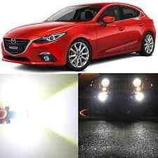Alla Lighting Fog Light H11 Super Bright White LED Bulbs for 10~16 Mazda 3 Sport