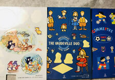 Vintage Sanrio Stickers Pata Pata Peppy Vaudeville Duo Gimme Five 1994