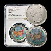 2015 Canada 50 Cent - NGC SP69 - 3D Holiday Toy Box - Top Pop 🥇 SCARCE