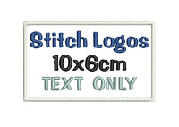 Embroidered Personalised Patch Badge Your Own TEXT ONLY 10x6cm + HOOK OR LOOP
