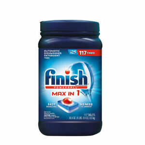 Lot of 2 Finish Max in One Advanced Dishwasher Detergent Powerball Tabs(117 ct.)