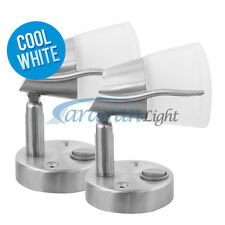2X 12V LED Reading Light Mini Spot Lamp for Van/Trailer/Boat/Marine Cool White