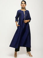 Indian Bollywood Women Ethnic Kurta Suit Occasion Party Casual Calf Length Dress