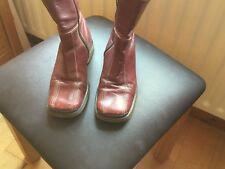 Ladies Red Leather 'Bertie' Boots Size 36