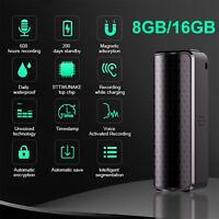 8GB 16GB Recording Device Voice Activated Recorder Mini Magnetic Audio MP3