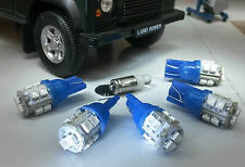 Led Azul dash/speedo Land Rover Defender 90/110 Tdi Kit incluyendo Reloj