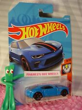 '18 CAMARO SS #265✰blue chevy;red mc5✰MUSCLE MANIA✰2018 i Hot Wheels WW case L/M