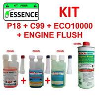 "MECARUN - KIT ADDITIF TRAITEMENT ""ESSENCE"" P18+C99+ECO10000+ENGINE FLUSH"