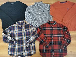 NEXT boys 5-6 years bundle autumn winter shirts jumper