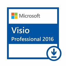 VISIO PROFESSIONAL 2016 32 /64BIT LICENSE KEY SCRAP PC