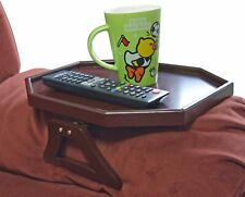 Wooden Sofa Arm Clip on Snack Table Wood Chair Armrest Tray Organizer Cherry