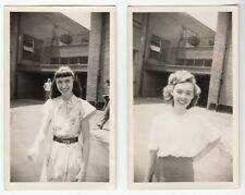 [57125] Circa 1948 LOT OF 2 PHOTOGRAPHS OF FEMALE STUDENTS, ANSONIA, CONNECTICUT