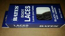 Bates Unisex Shoe Boot Laces 45in Black Brown