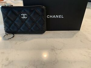 Authentic Chanel Quilted Pouch / Wallet /Key Chain