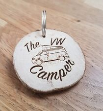 VW VOLKSWAGEN T4, T5, T6 POPTOP,  CAMPER, SURFVAN, CAMPING VDUB WOODEN KEYRING