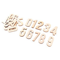 10x Natural Blank Wood Wooden Numbers Shape Pieces for Kids Arts Crafts DIY