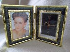 PHOTO FRAME AND CLOCK -NEW WITH BOX -VINTAGE -RETRO