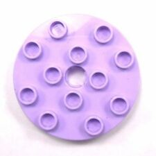 Lego Duplo Replacement Building Piece 2010 Purple Round Turn Table # 98222