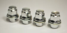 Set of 4 x M12 x 1.25, 21mm Hex Flat Seat for Nissan Alloy Wheel Nuts (Silver)