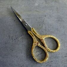 Birch Embroidery Scissors Fancy Decorative Gold Plated StainlessSteel Needlework