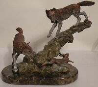 MISSED by a HARE Pewter Wolf Kitty Cantrell  Legends Limited Ed # 161/500 (NIB)