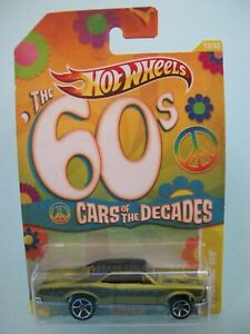 Hot Wheels Cars Of The Decades The 60s - '67 Pontiac GTO #13/32 New In Pkt 2010
