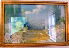 Vintage R. ATKINSON FOX Print DREAMLAND Framed under Glass