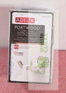 Delta- Portwood Towel Hook in SpotShield Brushed Nickel